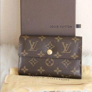 Authentic Louis Vuitton trifold wallet